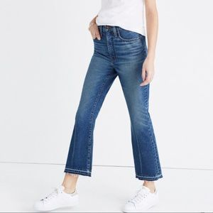 Madewell retro crop bootcut-size 26